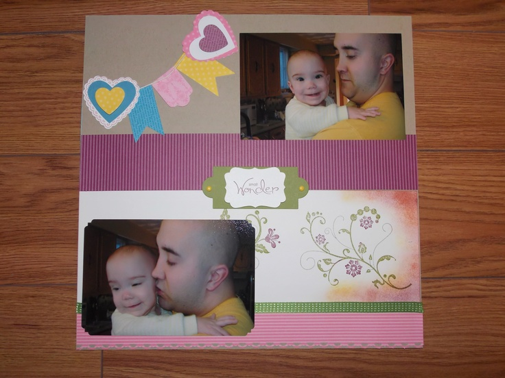 Again using the Hearts a Flutter bundle available through Stampin Up!
