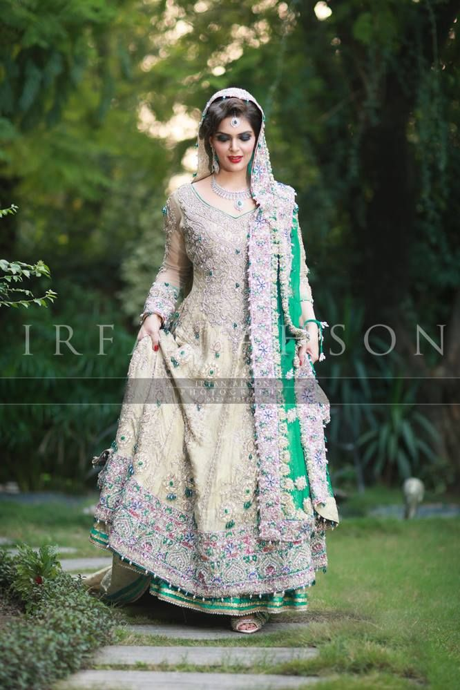 Irfan Ahson | Subhanallah. When I saw this dress I said mA, then I said iA. Lol but seriously, how gorgeous is this?! #Pakistani #Bridal #Lengha