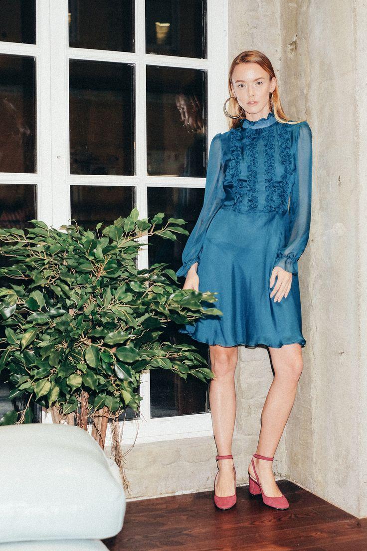 Beresta autumn - winter 2017 , look book , silk dress, шёлковое платье