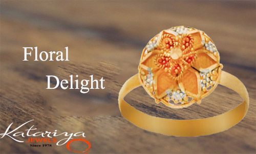Ring in 22K Yellow Gold  Buy  Now :http://buff.ly/1SuQelc COD Option available with free shipping in india