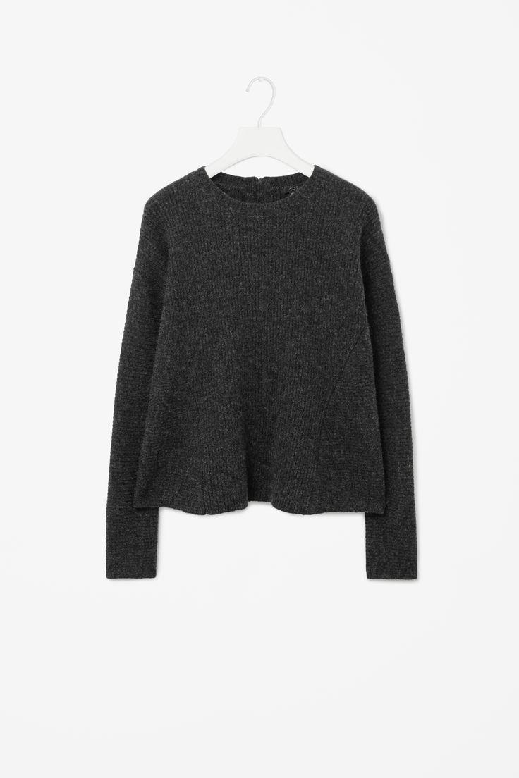 Flared wool jumper