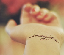 Inspiring picture beatles, imagine, separate with comma, tattoo, the beatles. Resolution: 500x307 px. Find the picture to your taste!
