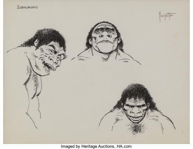 rare caveman drawings by fritz
