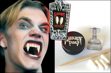 Bill Compton | Drop fang like the vampiric cast of True Blood or Buffy the Vampire Slayer with an easy-to-wear pair of false teeth. $17.99 at Mallatts.com. #halloweencostumeideas #easyhalloweencostumeideas