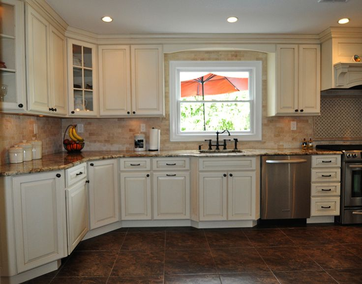 Angled Corner Cabinets Bumped Out Kitchen Base Cabinet Glass Doors Condo Kitchen Kitchen