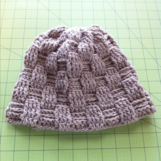 Basket Weave Hat Pattern Free : Best images about crochet basket weave on
