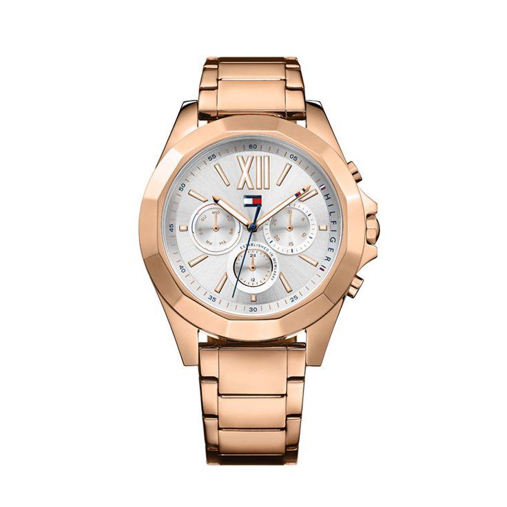 Γυναικείο ρολόι TOMMY HILFIGER 1781847 Chelsea με ασημί καντράν & ροζ επίχρυσο ατσάλινο μπρασελέ | Ρολόγια TOMMY HILFIGER ΤΣΑΛΔΑΡΗΣ στο Χαλάνδρι #tommyhilfiger #chelsea #μπρασελε