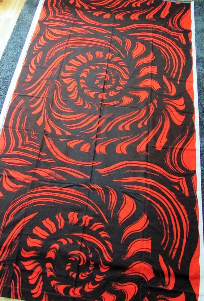 Marimekko Finland Vintage Fabric Sulttaani 1968 Anneli Qveflander