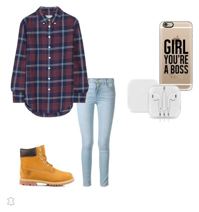 """""""#1"""" by sarah-e11 on Polyvore featuring Timberland, Frame Denim, Band of Outsiders and Casetify"""