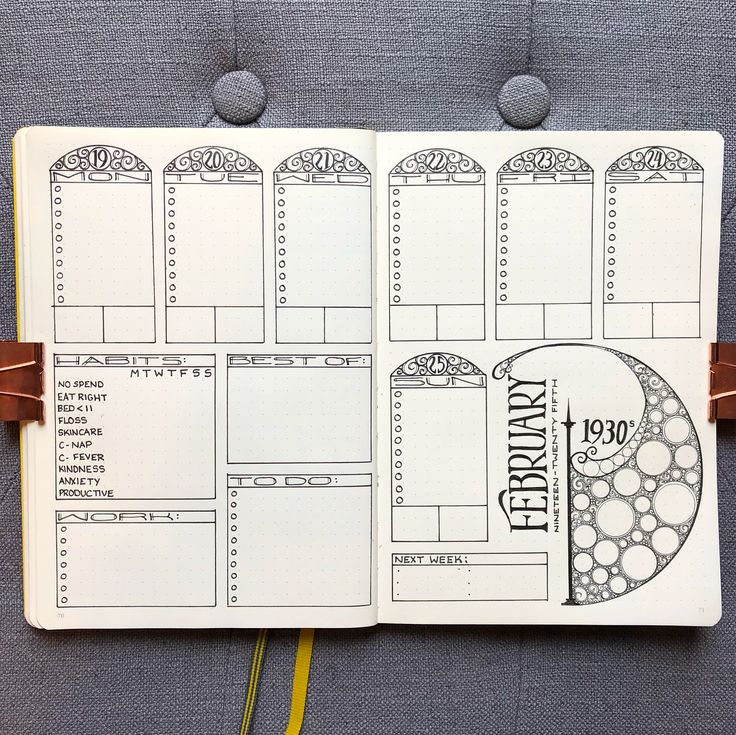 """1,524 Likes, 50 Comments - Nicole (@bujo_blossoms) on Instagram: """"I'm back! Here's the next weekly in my decade project - The 1930s Swipe for close-ups! . I…"""""""