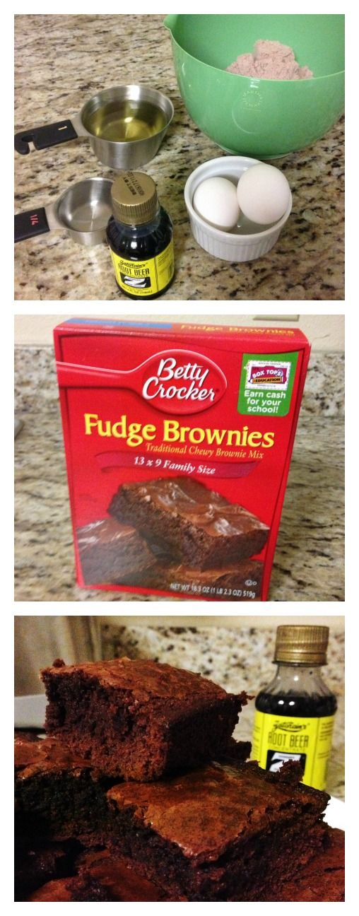 Add a teaspoon of Zatarain's Root Beer Extract to your favorite boxed brownie mix to give 'em a unique flavor!