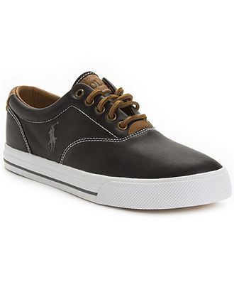 Polo Ralph Lauren Shoes, Vaughn Leather Sneakers - Sneakers & Athletic - Men  - Macy's