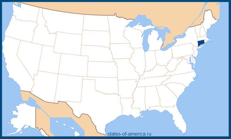 Штат Коннектикут на карте США