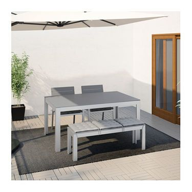 IKEA FALSTER table+2 chairs+ bench, outdoor