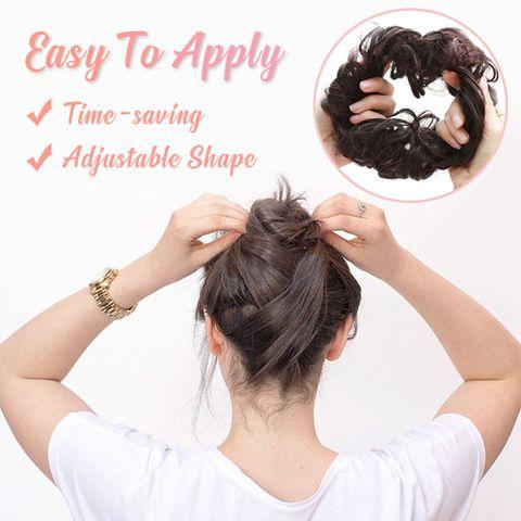 Perruque de tête de corde anneau de cheveux facile à porter chouchous de cheveux élégant