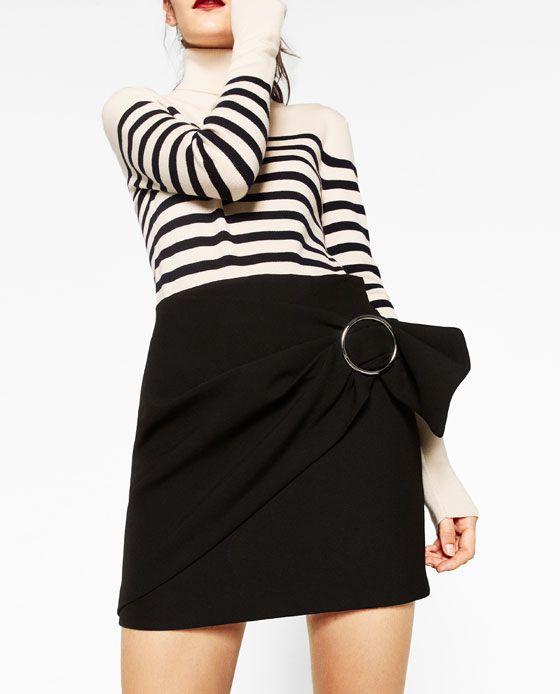 Image 3 of SARONG MINI SKIRT from Zara