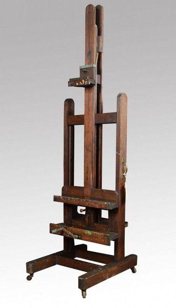 oak artist's fully adjustable studio easel