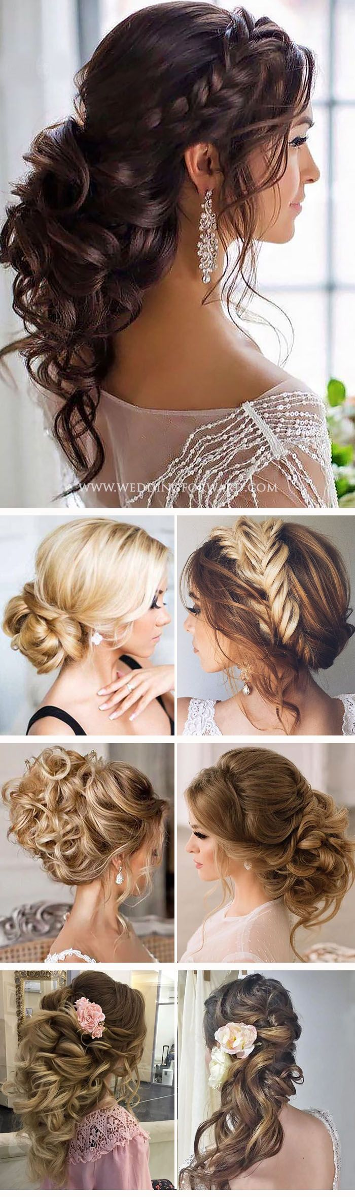 trendy swept- wedding hairstyles