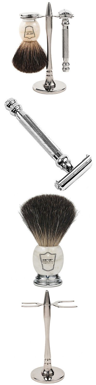 Shaving and Grooming Kits and Sets: Parker 99R Shave Set - Safety Razor, Stand And 100% Black Badger Brush Included -> BUY IT NOW ONLY: $79.99 on eBay!