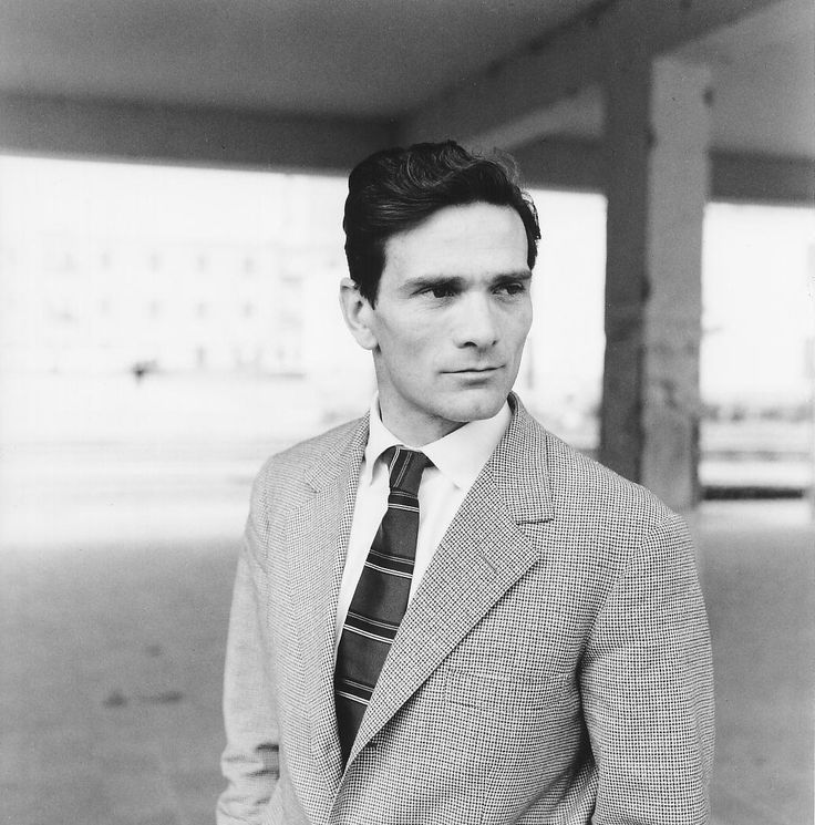Pier Paolo Pasolini (1922–1975) Italian film director. His first novel, Hustlers, was published in 1955 with great success but was poorly received by the Italian government. It initiated a lawsuit against Pasolini. Pasolini became a victim of insinuations, especially by the tabloid press. Pasolini was murdered by being run over several times with his own car, dying on a beach near Rome. Giuseppe Pelosi, a seventeen-year-old rentboy, was arrested & confessed to the murder