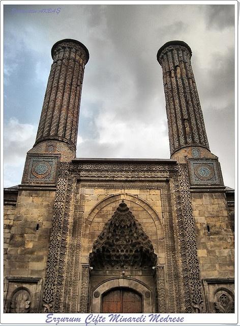 Çifte Minareli Medrese, Erzurum, Turkey   - Explore the World with Travel Nerd Nici, one Country at a Time. http://TravelNerdNici.com