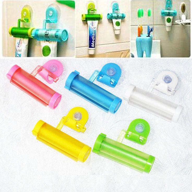 1 pc Plastik Bergulir Berguna Pasta Gigi Tabung Pemeras Mudah Dispenser Kamar Mandi Pemegang Gratis Pengiriman