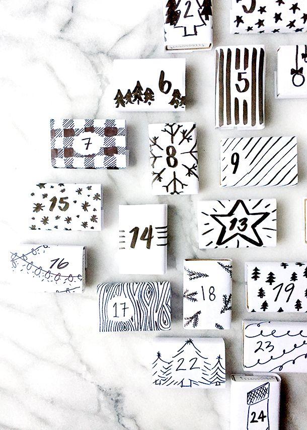 diy modern matchbox advent calendar