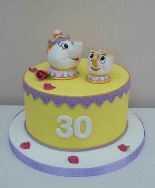 Mrs  Buttercream Cake Decorating : 1000+ images about Disney s Beauty and the Beast Cakes on ...