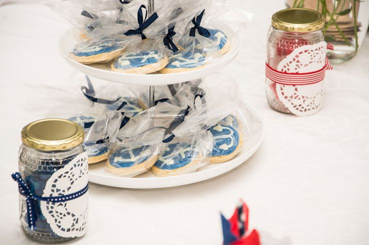 Blue Sailor Themed Cookies