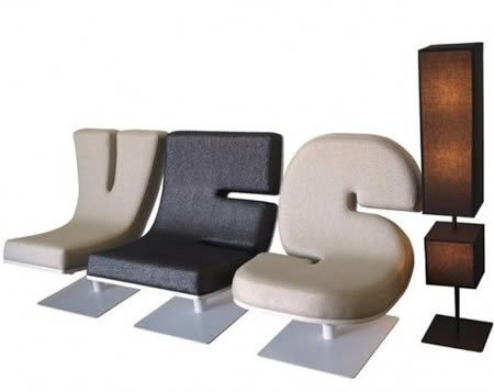 Great 12 Coolest Typography Themed Furniture   Themed Furniture Amazing Design