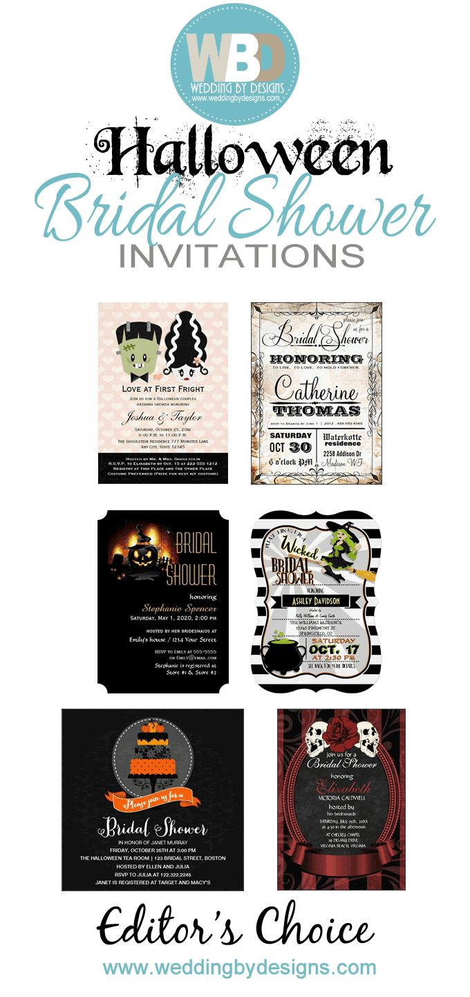 Halloween Bridal Shower Invitations ad v3