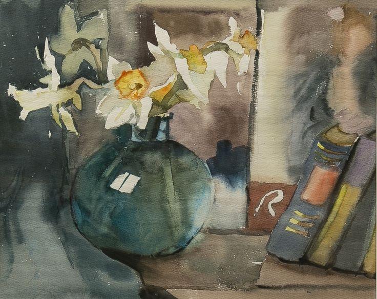 Мыслина Мария Владимировна (1901 -1974). Натюрморт. 1960-е.  Лот №131 Бумага, акварель, графитный карандаш. +