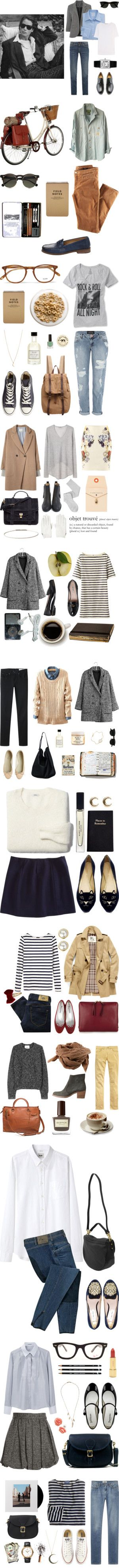 """Outfit Layout:""""College Wear"""" by tealrhapsody on Polyvore, but 50 something's like this style everyday"""