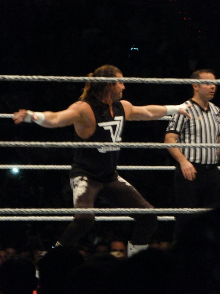Dolph Ziggler in the WWE Live Show in Barcelona. Incredible!