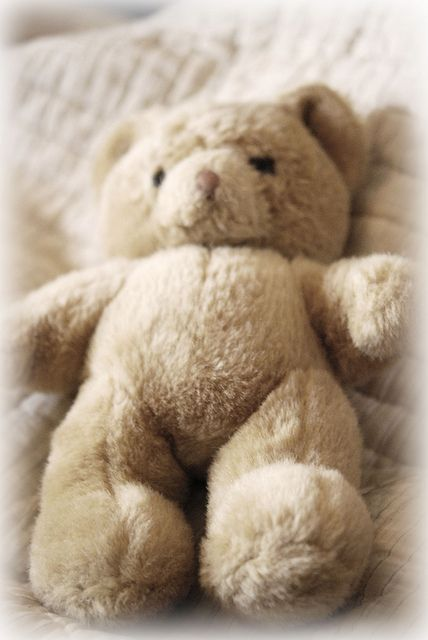 Teddy Bear very much like one I loved so much, only mine had blue shorts with red boats on them.   (MF) .