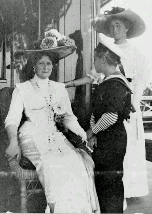 Empress Alexandra with Alexei and Olga