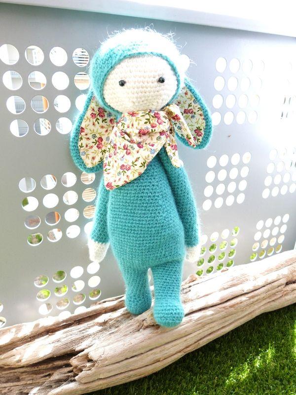 RITA the rabbit made by beabidouilles / crochet pattern by lalylala