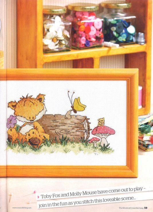 Woodland Folk Forest Friends The World of Cross Stitching Issue 192 Hardcopy in Folder