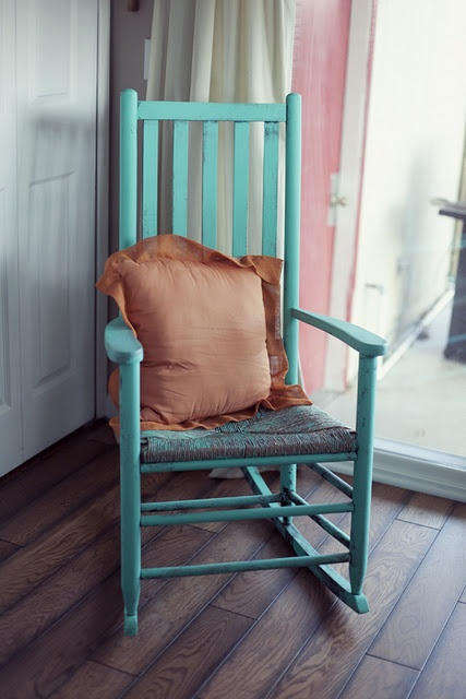re-purpose and old rocking chair...I would love a couple of these on a front porch