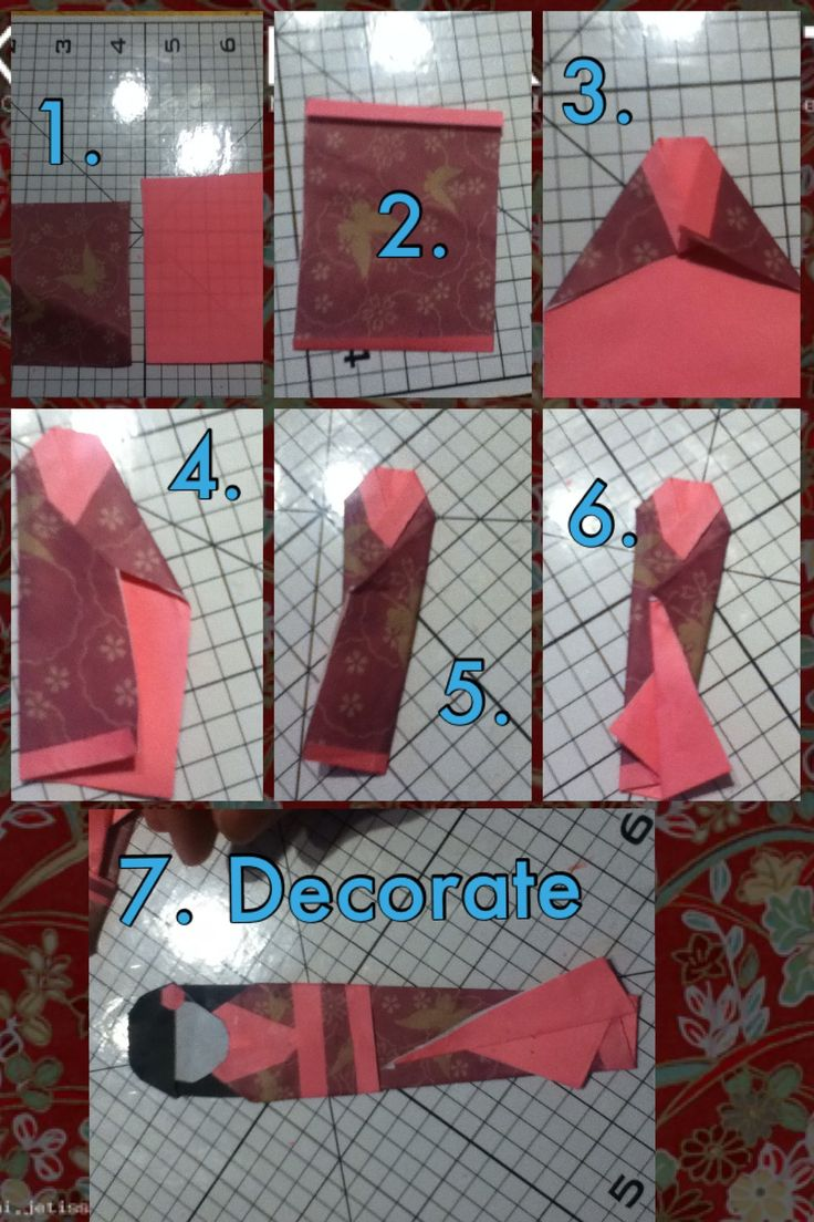 easy origami bookmark instructions