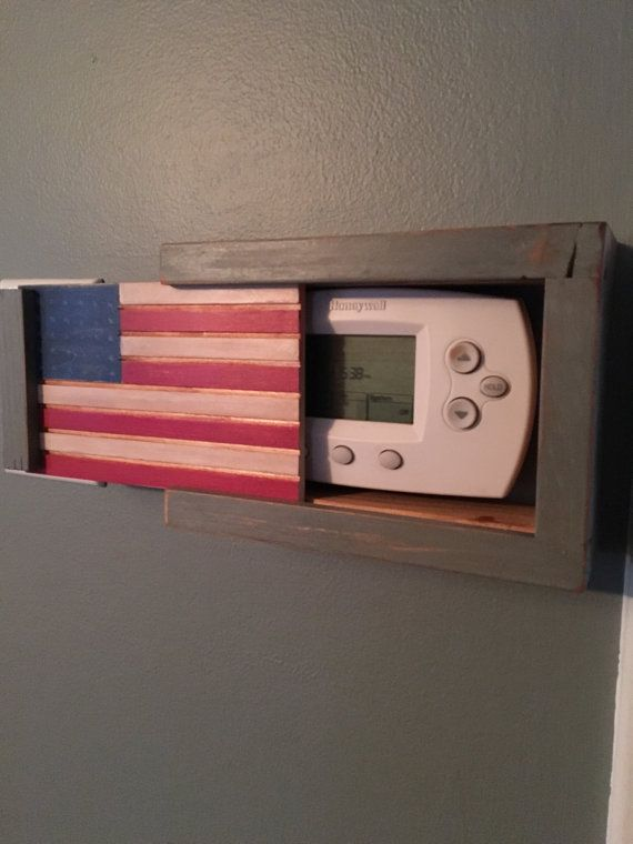 the 25 best thermostat cover trending ideas hide rustic style thermostat cover your choice of paint by lumberlovin