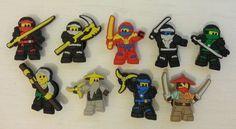 Lot 9 jibbitz Ninjago (pin's pour crocs) : Autres accessoires bijoux par elflea76
