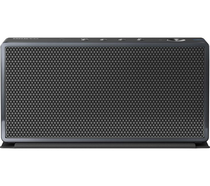 ONKYO  T3 Portable Wireless Speaker - Black, Black Price: £ 109.99 Enjoy music playback anywhere with compact design of the Onkyo T3 Portable Wireless Speaker . High quality sound Designed for clean and precise sound, the T3 Speaker has advanced audio performance with two 4 W speakers. For crisp definition, the dual full range drivers are engineered with a passive radiator to ensure your...