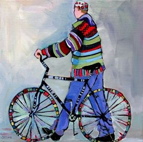 1044 best images about carolee clark on pinterest for Bicycle painting near me