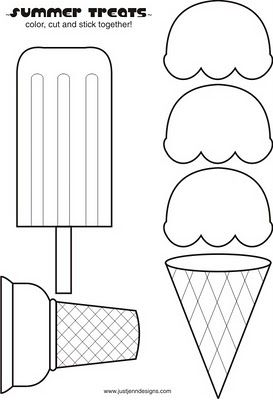 Ice cream printable