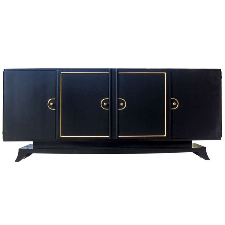 French Art-Deco Buffet / Credenza with Brass Fittings | From a unique collection of antique and modern buffets at http://www.1stdibs.com/furniture/storage-case-pieces/buffets/