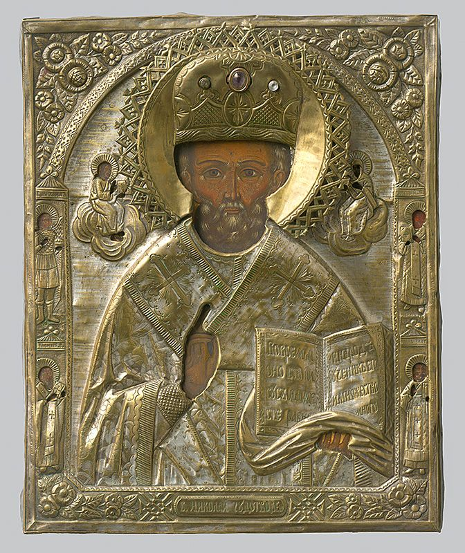 Holy Nicholas, Russian Iconography, 1800/1900. Slovak National Gallery, CC BY