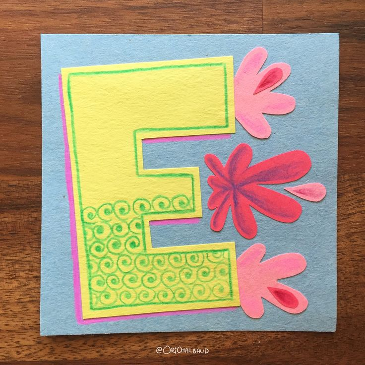 Letter E!. This is part of a paper art type I'm making for 36 days of type and also part of my 100 days project about paper art! :)