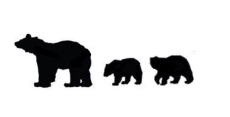 This would be a cute mom tattoo with the same number of bear cubs as you have children.