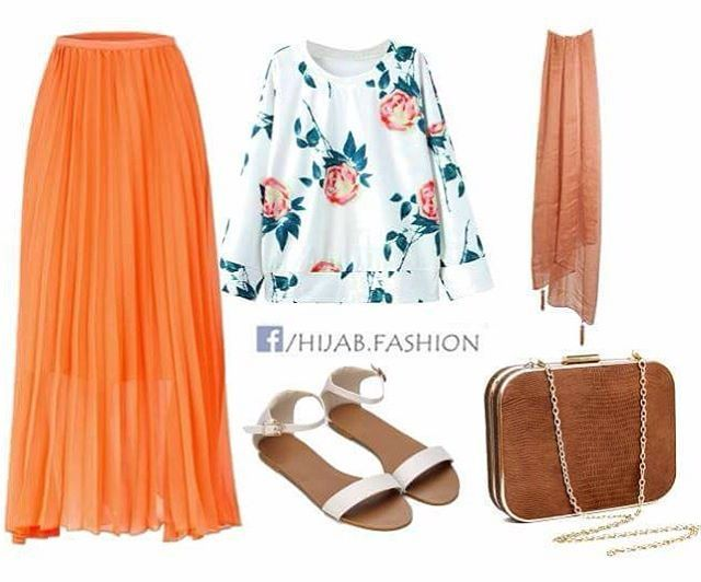 Direct links to order this whole look are  listed on the blog www.hijabfashioninspiration.com/flowers-orange LINK IN BIO